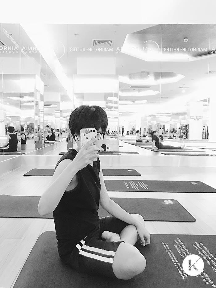 Minh chứng cho việc mục đích đi tập Gym thành tập Yoga nè =))