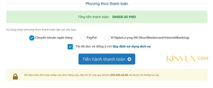 Thanh toán mua hosting azdigi