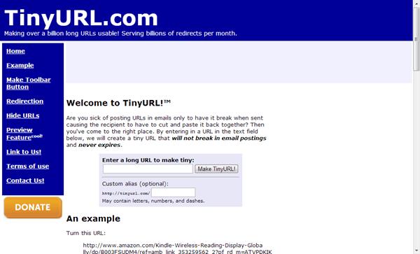 TinyURL rút gọn link
