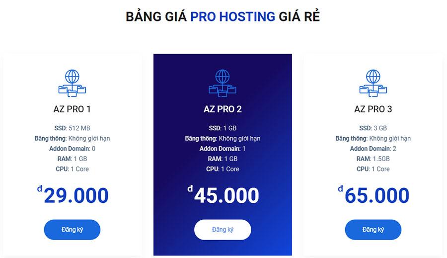 azdigi pro hosting gia re nhat