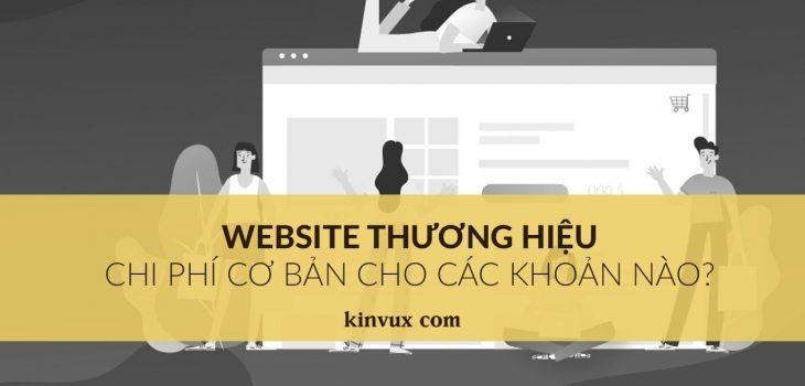 chi phi co ban xay dung website thuong hieu